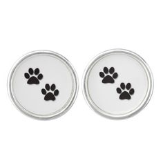 """Pawprints"" Cufflinks makes a great gift for the animal lover, veterinarian, groomer, etc."