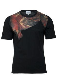 Union Jack Scarf T-Shirt Black