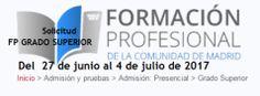Formación Profesional. Admisión curso 2017-2018 #Madrid #FP #FormaciónProfesional Plaza, Madrid, Personal Care, Personal Hygiene