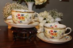 Johnson Brothers cup and saucer set (4 available), for rent from southernvintagegeorgia.com