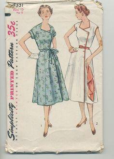 Vintage Sewing Pattern 1950s 1953 Women's by PrincessOfPatternsCA