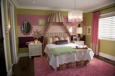 Pink bedroom decor | ... Bedroom Color Decorating Design Ideas - Home Decorating Designs