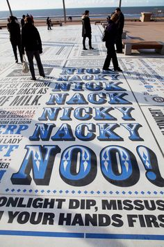 The Comedy Carpet, Blackpool, UK - Gordon Young and Why Not Associates