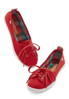 Walk of the Town Flat in Red, #ModCloth