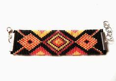 Loom bracelet (my pattern).