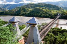 Pont d'occident à Santa fe d'Antioquia autour de Medellin