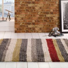Montana hamilton multi coloured striped rugs