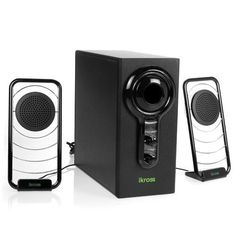 iKross Blue LED Hi-Fidelity 2.1 Satellite Speaker Sound System with Subwoofer for PC , Mac , MP3 , iPod , Tablets and Home-Theater by iKross. $44.99. iKross IKSP11 Blue LED Satellite Multimedia 2.1 Stereo Speaker System  It delivers a rich audio experience for your home or office. Pulse. Music. Enjoy.  Full-Spectrum Audio Equipped with Dual Neodymium Full-Range satellite speakers with 4-watts of power each. The side-firing 9-watt subwoofer comes with its own equalizer mounted on...