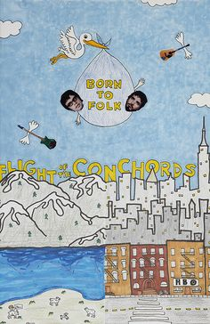 Flight of the Conchords Poster | born to folk, show poster