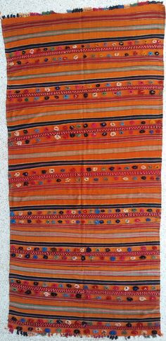 """166""""X50"""" Antique Wool Moroccan rug woven by hand / Moroccan kilim / Moroccan rug"""