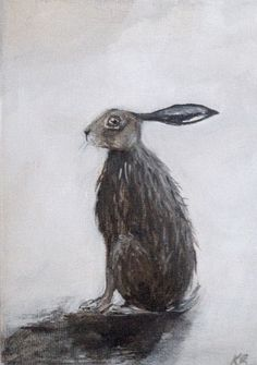 Hare painting 7 x 5