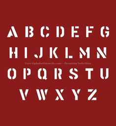 cool letters stencils