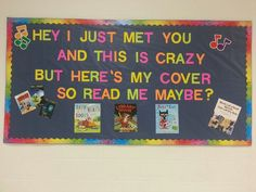 Our library bulletin board