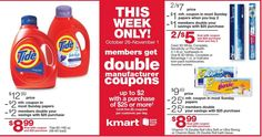 HEADS UP!! KMART SUPER DOUBLES IS BACK 10/26-11/1