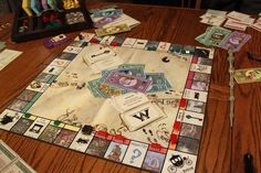 Picture of Wizard's Monopoly (Harry Potter Monopoly)...apparently you can make your own.