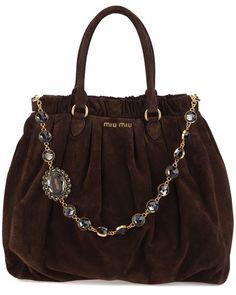 miu miu - via: gildedgirlswish - Imgend Beautiful Handbags, Beautiful Bags, Gwen Stefani, New Handbags, Purses And Handbags, Beige, Handbag Accessories, Fashion Accessories, Fashion Bags