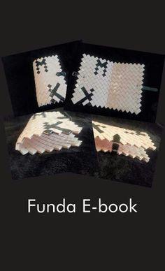 """Funda para e-book de 7"""" personalizada, en color rosa y negro y con cierre en cuero con hebilla metálica"""