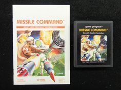 Atari 2600 Missile Command with Instructions FREE SHIPPING