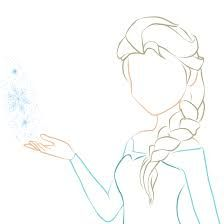 A basic outline of how to draw elsa...super easy and turns out great!!!
