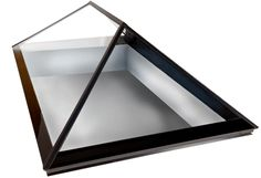 Double hipped plate glass skylight