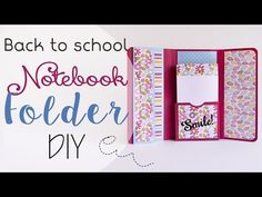 Scuola: Cartella porta Appunti - ENG SUBS School: Notebook Folder DIY - YouTube