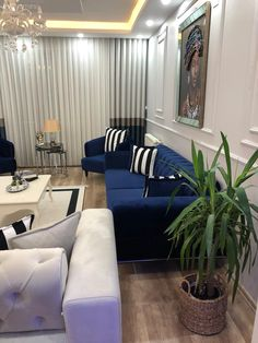 Discover recipes, home ideas, style inspiration and other ideas to try. Decor, House Design, Blue House, Furniture, Sectional Couch, Home Decor, Room, Room Decor, Home Deco