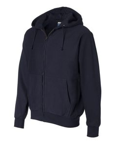 Weatherproof Cross Weave Full-Zip Hooded Sweatshirt 7711 Navy