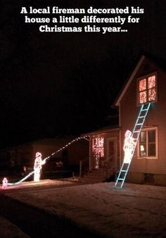 How a fireman decorates his home for the season