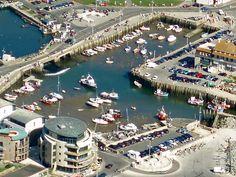 west bay harbour dorset Ariel view