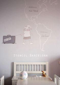 #habitacionesinfantiles pintadas por Stencil Barcelona