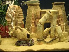 Egypt theme fish tank.