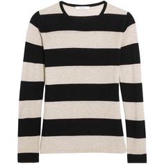 Max Mara Adone striped silk and cashmere-blend sweater (€260) ❤ liked on Polyvore featuring tops, sweaters, cashmere blend sweater, stripe top, silk top, striped sweater and stripe sweater