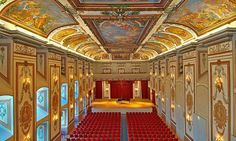 Haydnsaal, Schloss Esterházy, Eisenstadt - world famous accoustic Drawing Rooms, Palace Interior, Palace Of Versailles, Rococo Style, European Tour, Palaces, Orchestra, Hungary, Outdoor Spaces