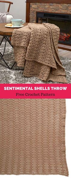 This pretty pattern is easy to crochet and has the added feature of looking good on both sides. Choose a restful neutral or any color you wish to have as Crochet Afgans, Free Crochet, Knit Crochet, Crochet Style, Beginner Crochet, Crochet Blankets, Crochet Patterns For Beginners, Afghan Crochet Patterns, Crochet Designs
