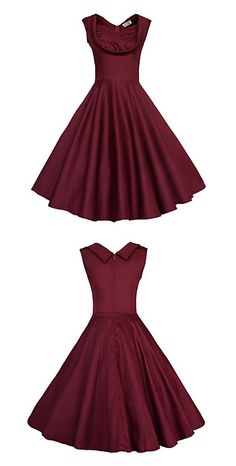 This 50s rockabilly swing dress is classy and sassy! Perfect for a chic lady <3
