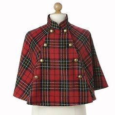 Adorable tartan cape