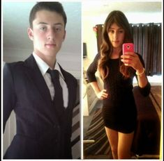 Crossdressering Before and After : Photo Male To Female Transgender, Transgender Girls, School Girl Outfit, Girl Outfits, Chica Punk, Men Wearing Dresses, Male To Female Transformation, Face Transformation, Male To Female Transition