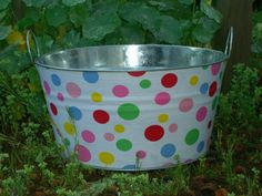 polka dot party tub