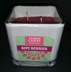Yankee Candle Home Classics Ripe Berries 2 Wicks 8.75 ounces 248 grams New  #YankeeCandle