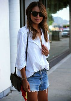 7. With vintage cut-off shorts via Sincerely Jules via StyleList