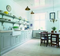 Maybe this is the way my paneling should go in the kitchen. No, my ceiling is too short.  It wouldn't look like that.