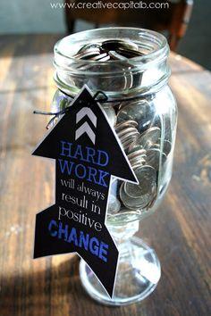 Capital B: Graduation Mason Jar Money Gift