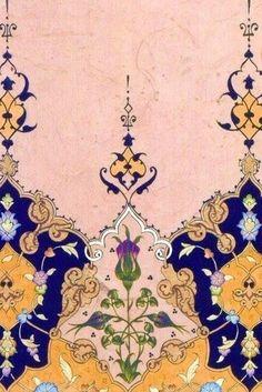 What a beautiful tattoo this would make. Islamic Motifs, Persian Motifs, Islamic Patterns, Arabesque, Motif Oriental, Iranian Art, Turkish Art, Arabic Art, Islamic Art Calligraphy