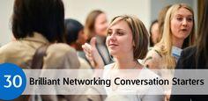 Career Guidance - 30 Brilliant Networking Conversation Starters