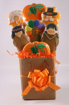 Thanksgiving Cookie Bouquets