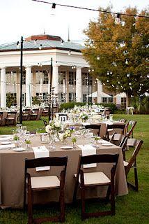 Wedding reception at Daniel Stowe Botanical Garden