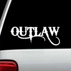 Car Stickers, Custom Stickers, Sticker Ideas, Window Decals, Vinyl Decals, Happy Thoughts Quotes, Outlaw Tattoo, Car Tattoos, Pinstriping Designs