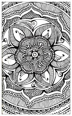 Mehndi Inspired Mandala by White Violet Art, via Flickr