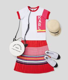 KARL LAGERFELD KIDS SS 2020 Karl Lagerfeld Kids, Pleated Maxi, Drawstring Backpack, Ss, Baby, Fashion, Moda, Fashion Styles, Baby Humor