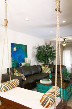 Houzz - Home Design, Decorating and Remodeling Ideas and Inspiration, Kitchen and Bathroom Design Hanging Swing Chair, Hanging Beds, Swinging Chair, Bench Swing, Swing Chairs, Bed Design, Chair Design, Indoor Swing, Ideas